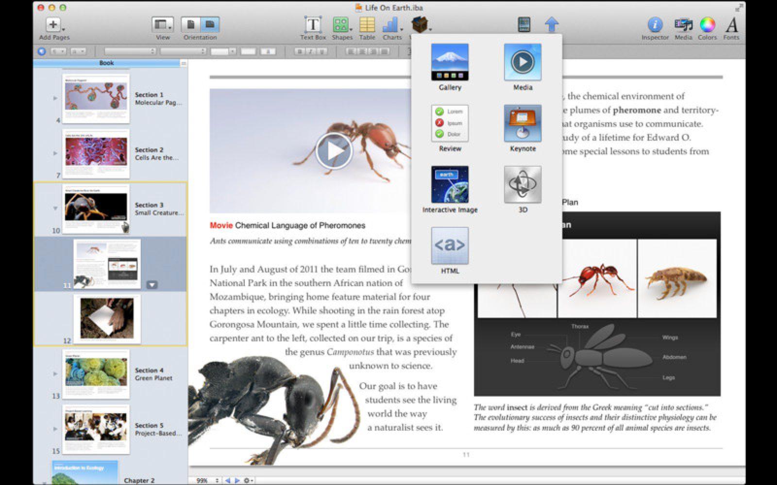 Apple announces iBooks Author, a free Mac app for authoring