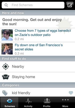 iOS screenshot 1 - scheme page