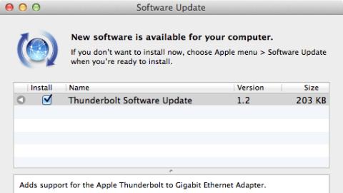 Thunderbolt-Update