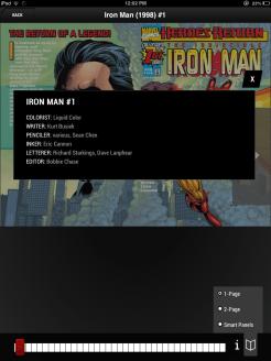 Iron Man on iPad 1