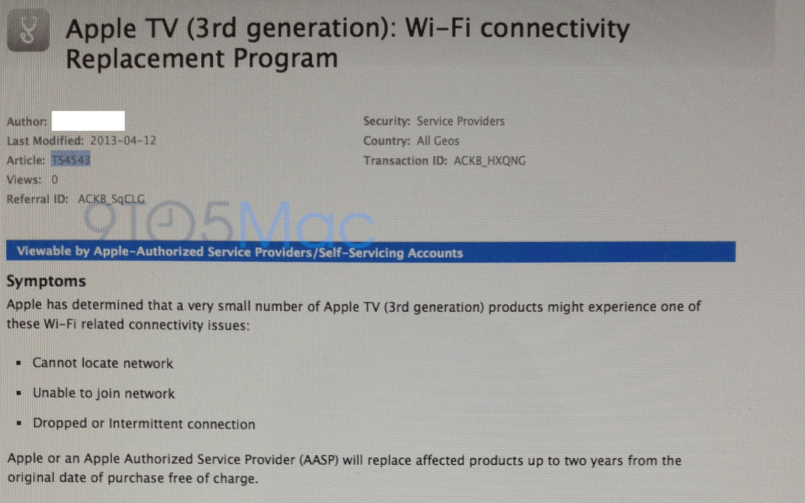 Apple says small number of Apple TVs have WiFi issues, opens