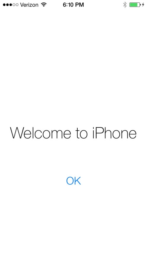 Welcome to iOS 7, the first install gallery