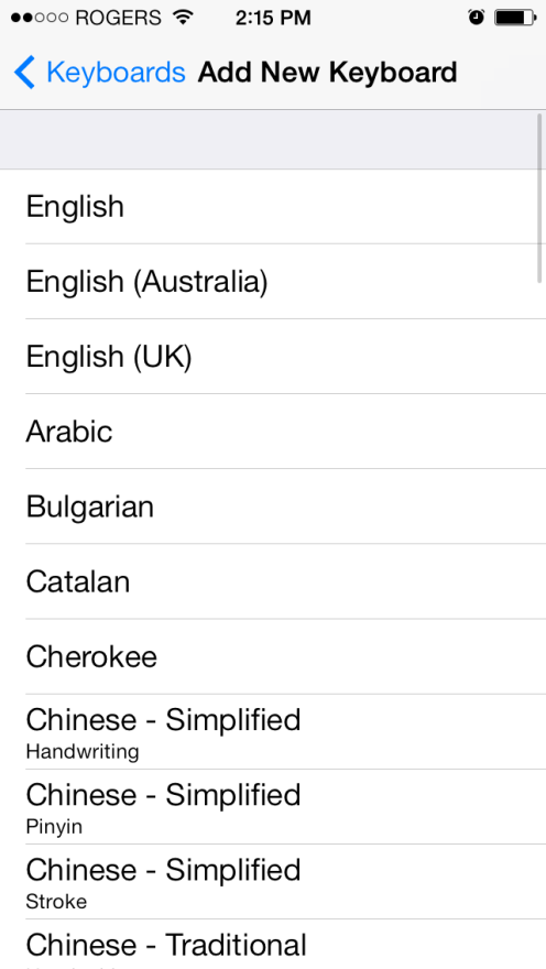 how to add another language to keyboard iphone 6