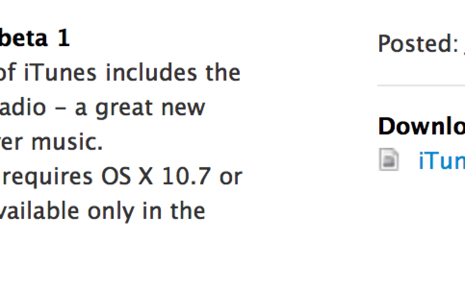 Apple releases iTunes 11.1 beta to developers with iTunes Radio