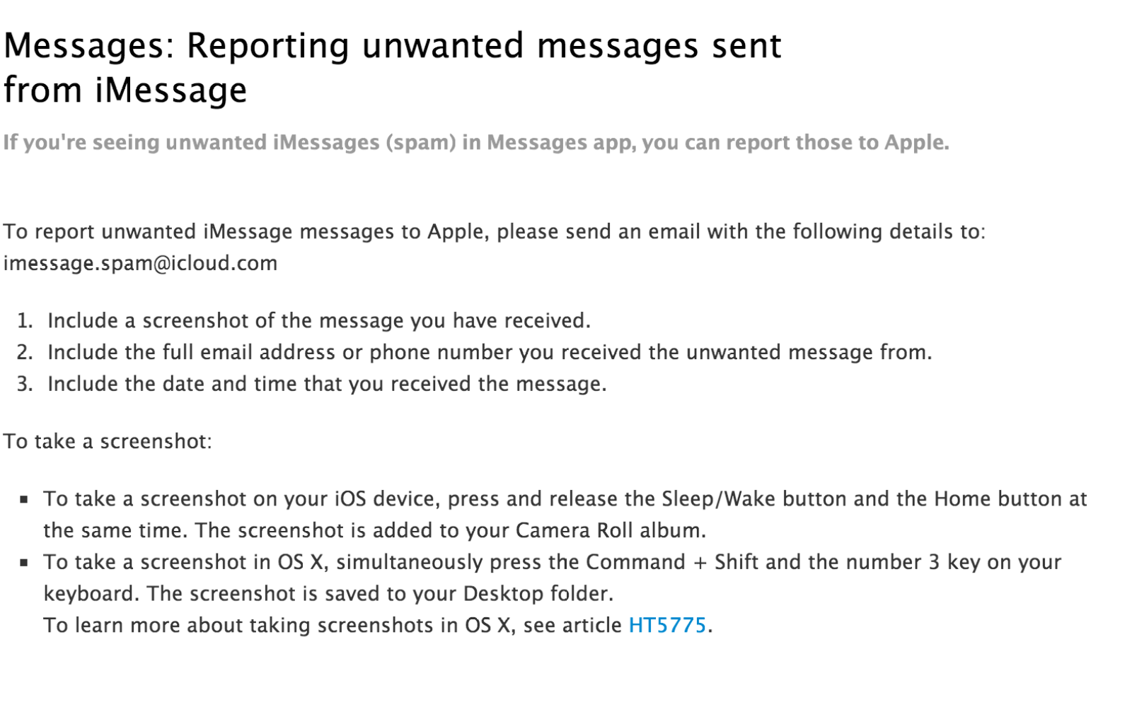 Apple opens iMessage spam reporting tool ahead of iOS 7