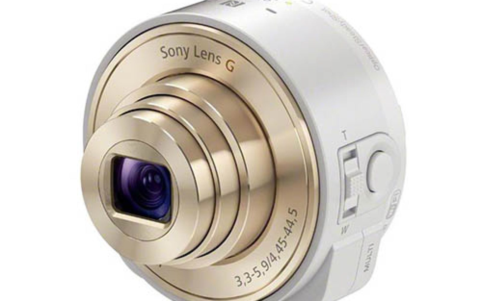 Sony's Smartshot QX 'smart lens' will have a white and champagne color option, just in case
