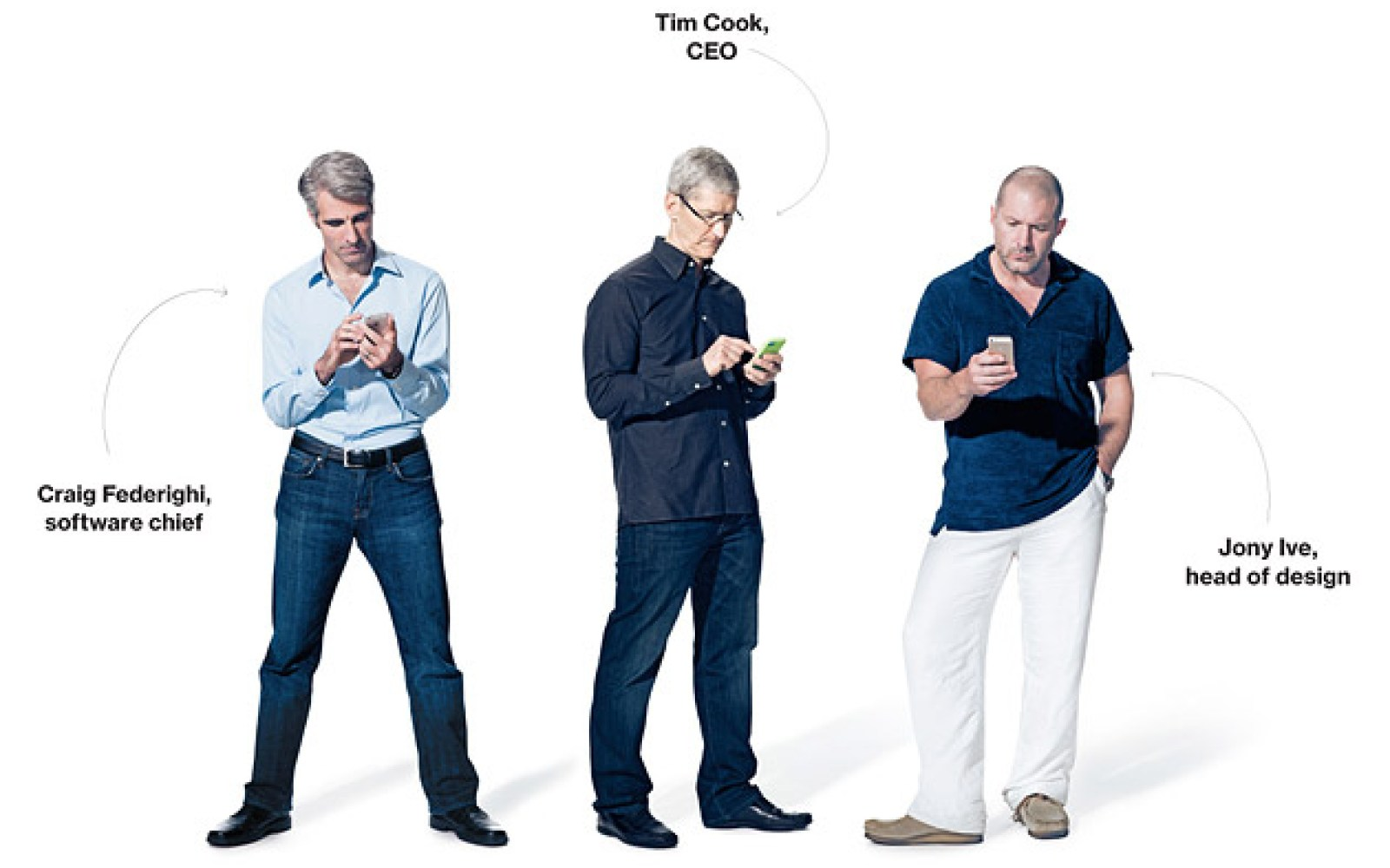 Tim Cook, Jony Ive, Craig Federighi talk new iPhones, iOS 7, collaboration in interview