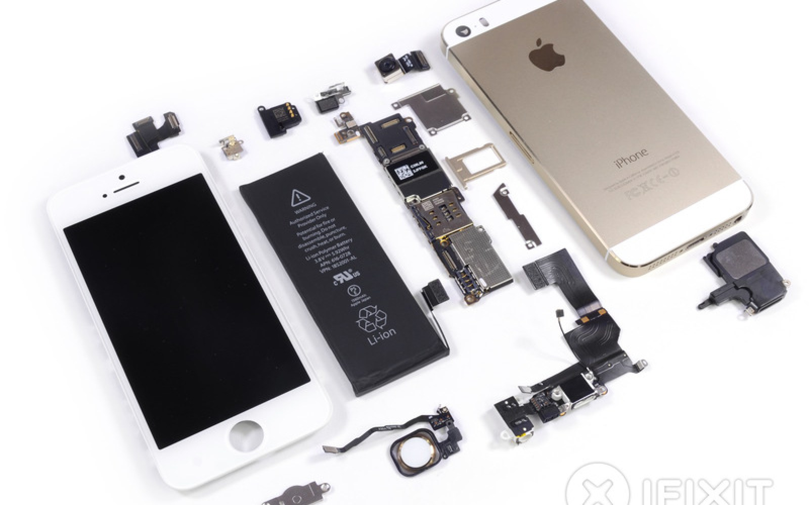iFixit does its ritual teardown of the gold iPhone 5s