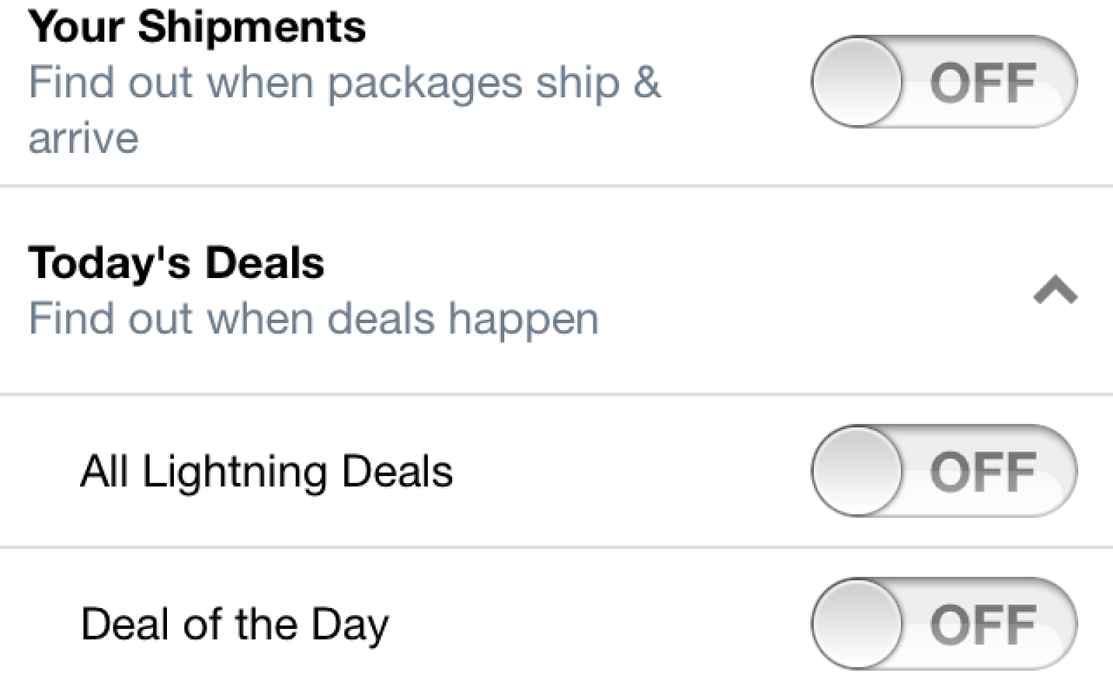 Amazon Mobile for iOS adds push notifications for shipments, deals and subscription activity
