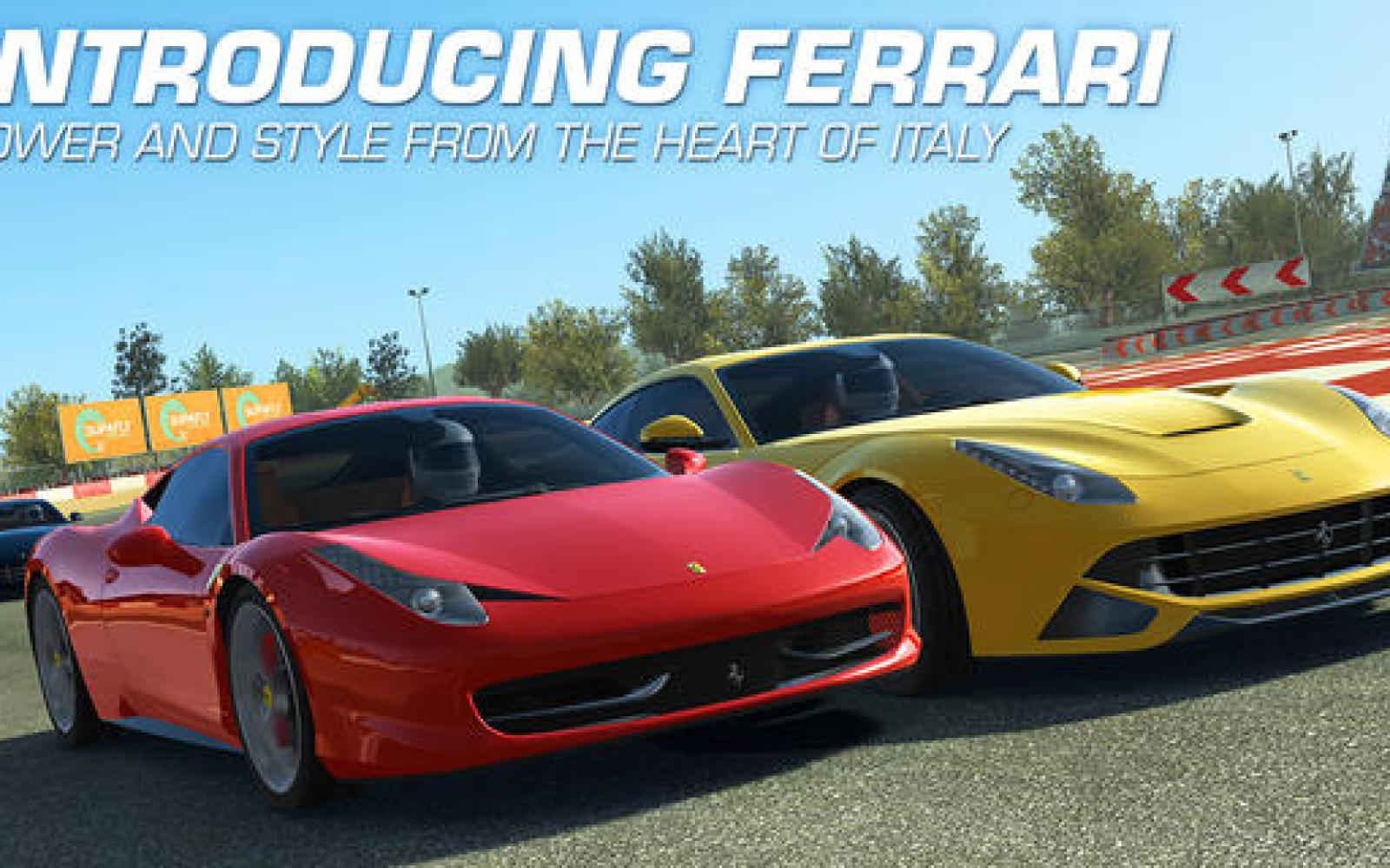 Real Racing 3 iOS app updated w/ Ferraris, HUD customization, new tracks & challenges