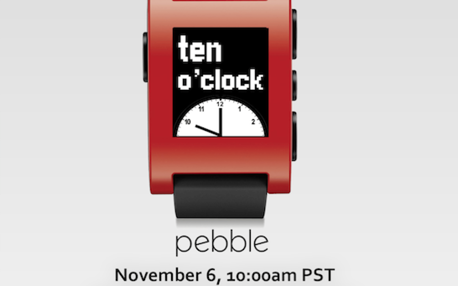 Pebble to announce new software features on Nov. 6