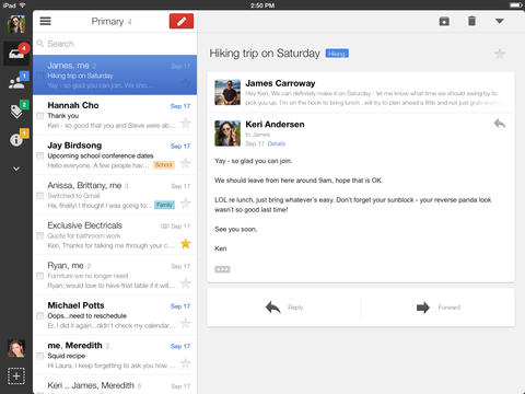 Gmail iOS app updated with iOS 7 design tweaks, full-screen compose on iPad, & more
