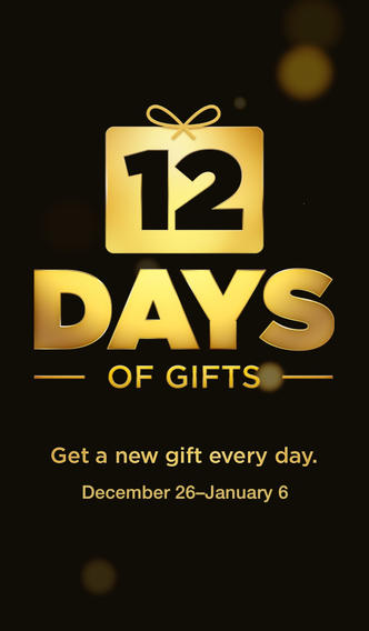 """Apple launches 2013 """"12 Days of Gifts"""" app on iTunes, available in U.S. for the first time"""
