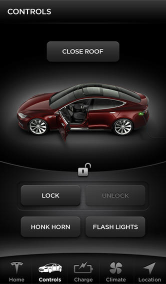 Tesla-app-iphone-Controls