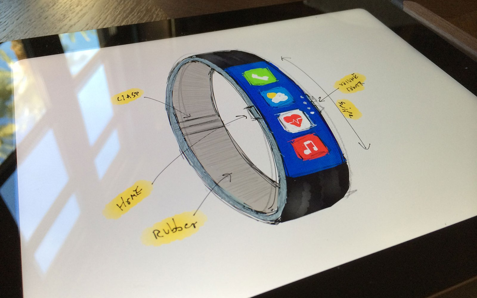 New iWatch concept iterates on Nike Fuel Band-style design
