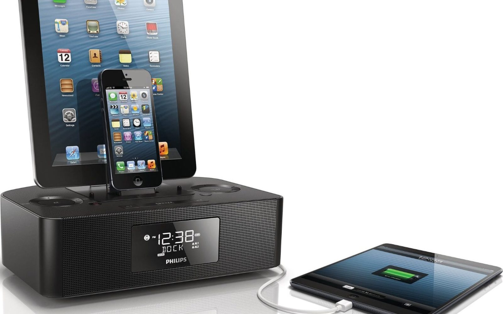 Quick Review  Philips AJ7260D 37 Dual Dock Triple Charging Clock Radio  charges every iOS device 3b4f93398155