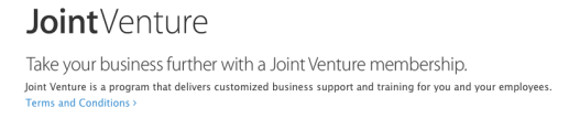 New unadorned text version of the JointVenture logo
