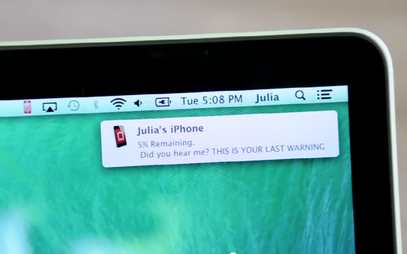 iBetterCharge puts iPhone & iPad battery notifications on your Mac