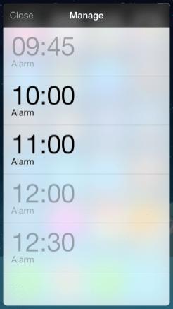 Alarm widget