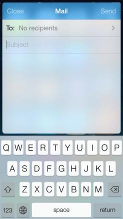 Mail widget