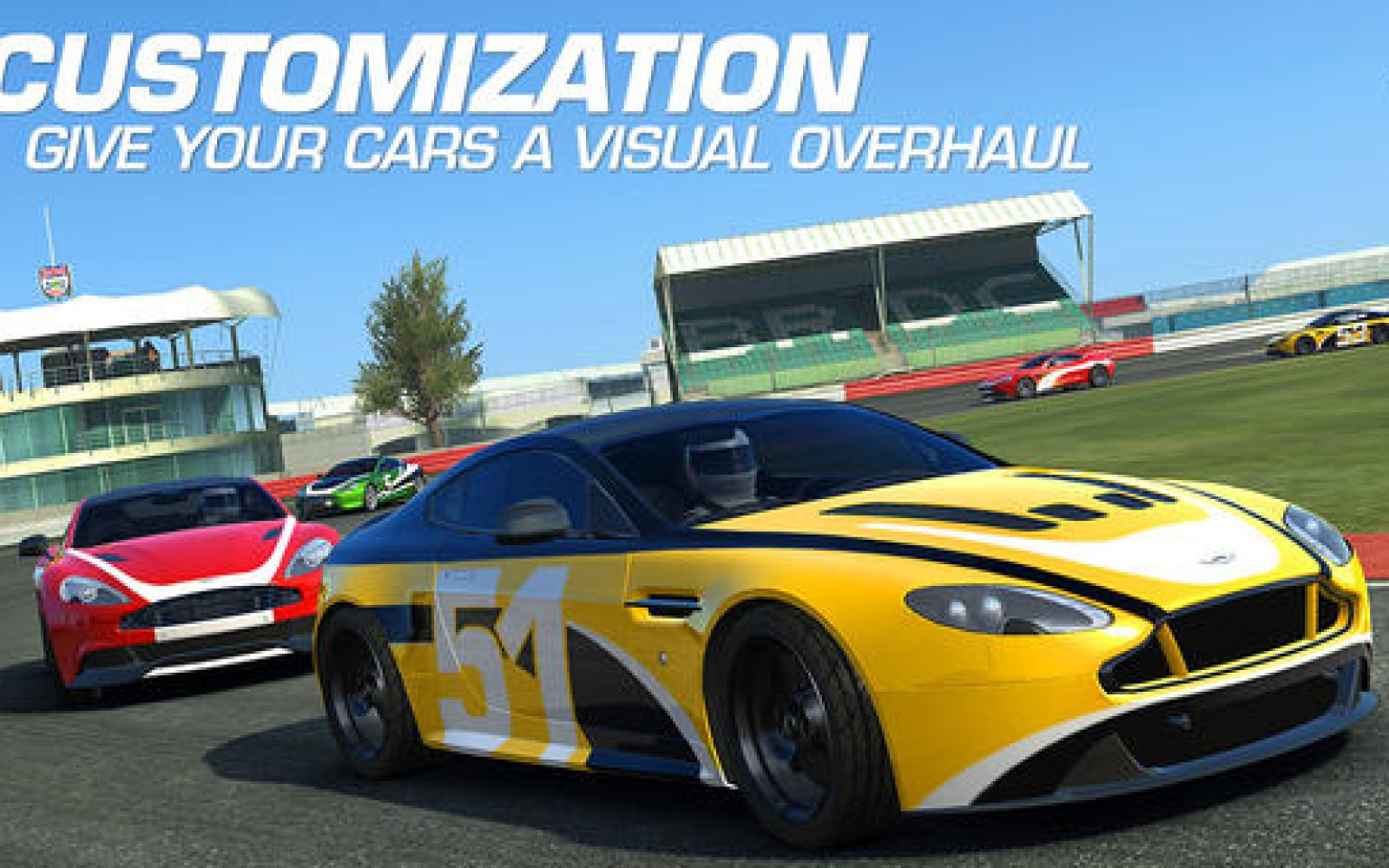 Real racing 3 ios app updated w vehicle customizations aston martin cars ios 7 controller support more