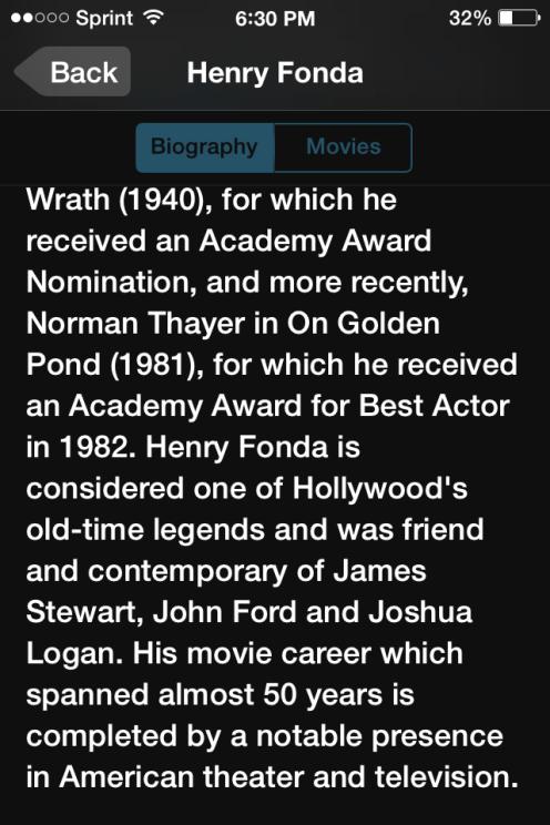 todoMovies Actor Bio