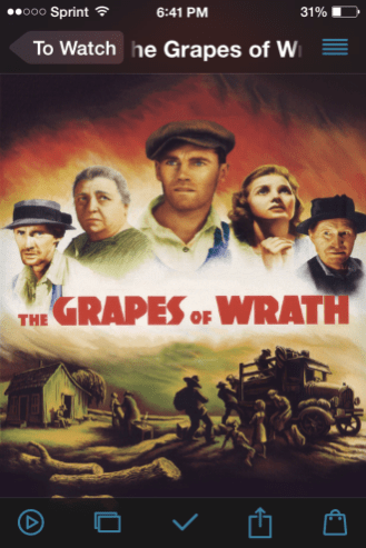 todoMovies Grapes of Wrath Movie view