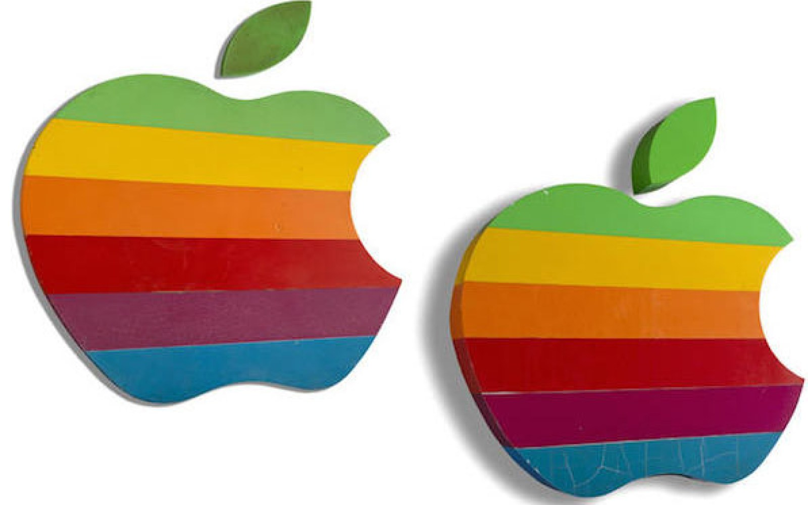 Fancy a piece of Apple history? Apple's original rainbow logo signs being auctioned