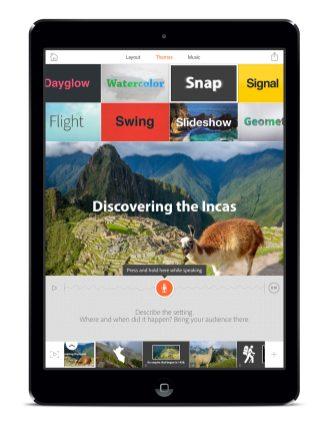 Adobe Voice - Screenshots - Themes