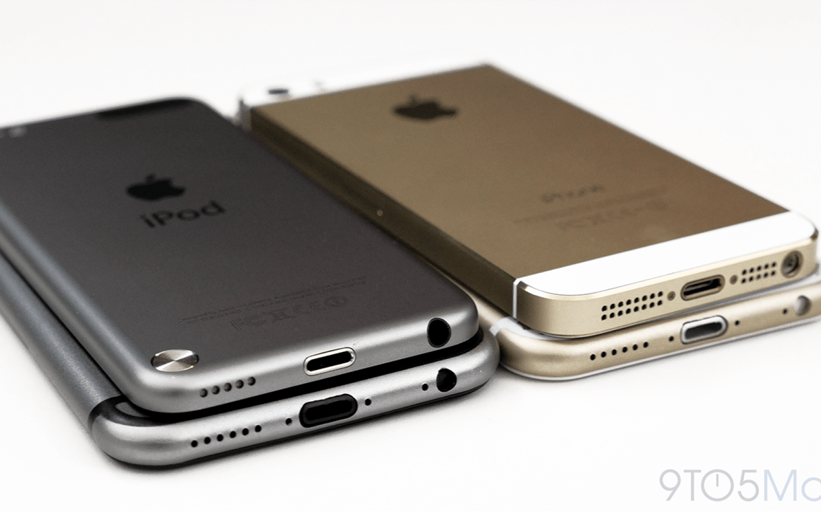 Gold and Space Gray iPhone 6 mockup vs iPhone 5s, 5th gen iPod touch, and alleged iPhone 6 cases (4K video)
