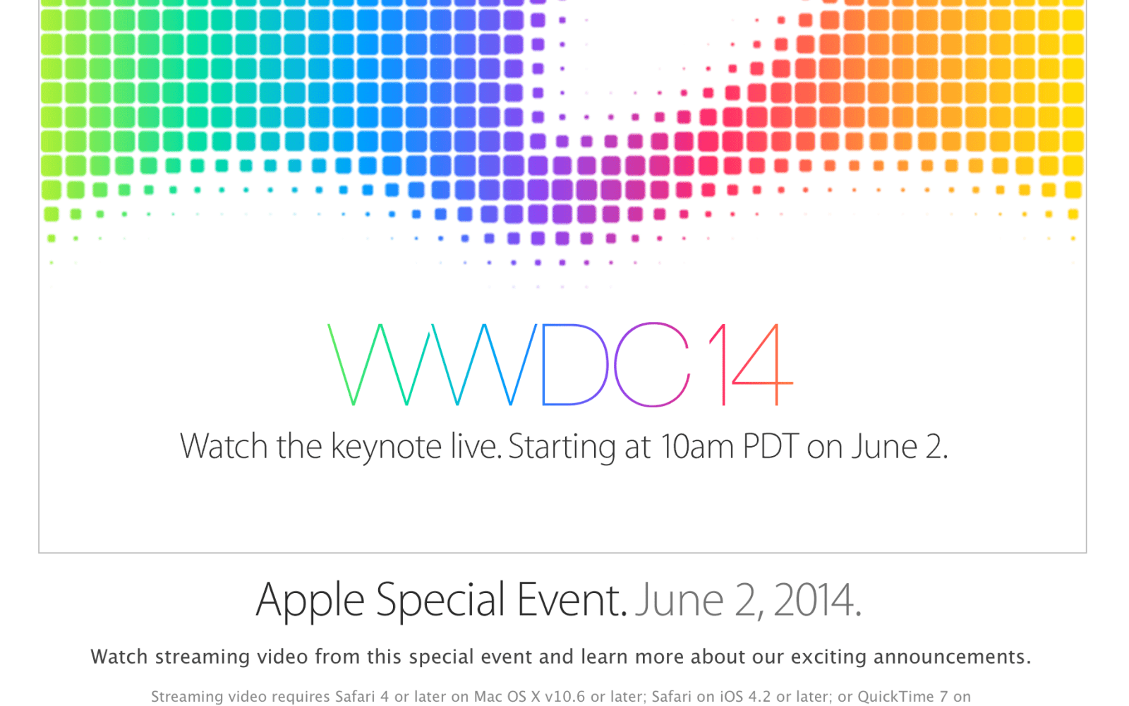 Apple to live stream 'exciting' WWDC keynote for everyone to watch