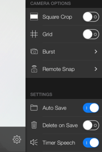 Voice Snap settings 1