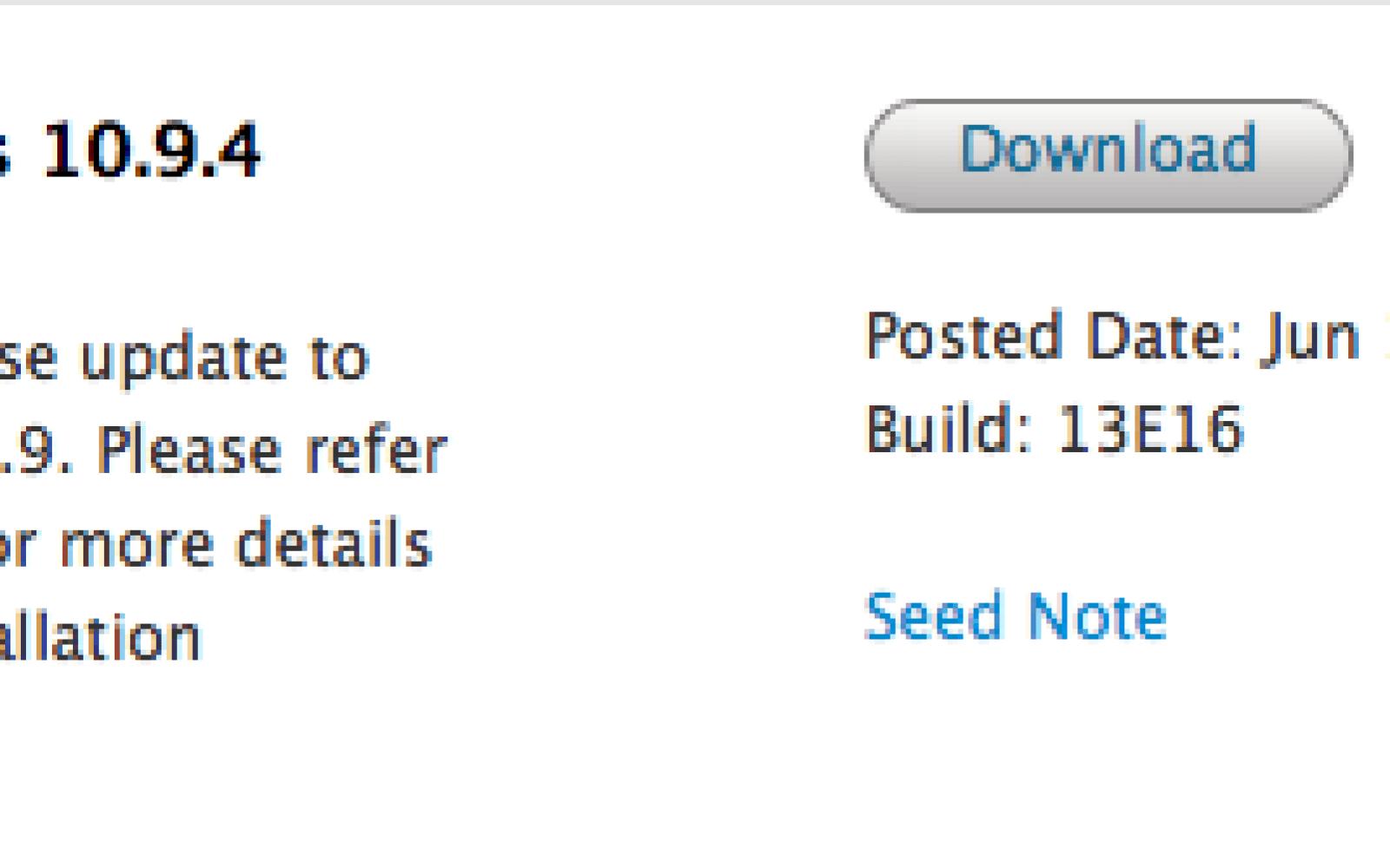 Apple seeds new OS X 10.9.4, OS X Server, and Safari betas to developers