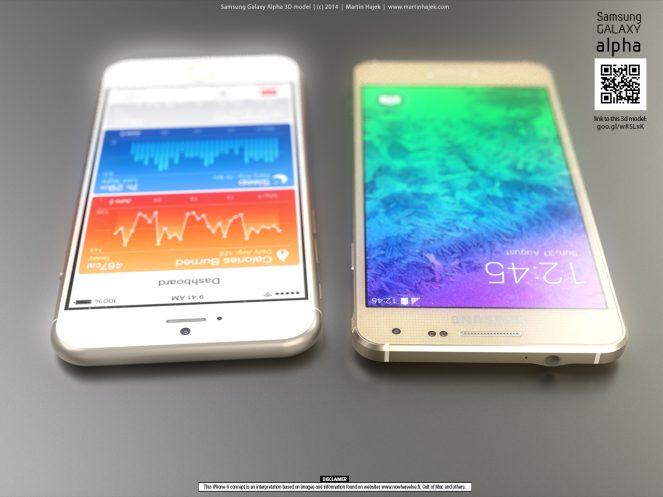 Samsung Alpha iPhone 6 render