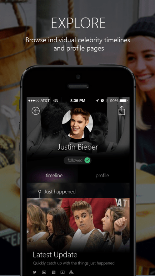 Microsoft launches Bing-powered celebrity stalking app