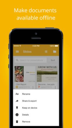 google releases slides app for iphone ipad updates to docs and