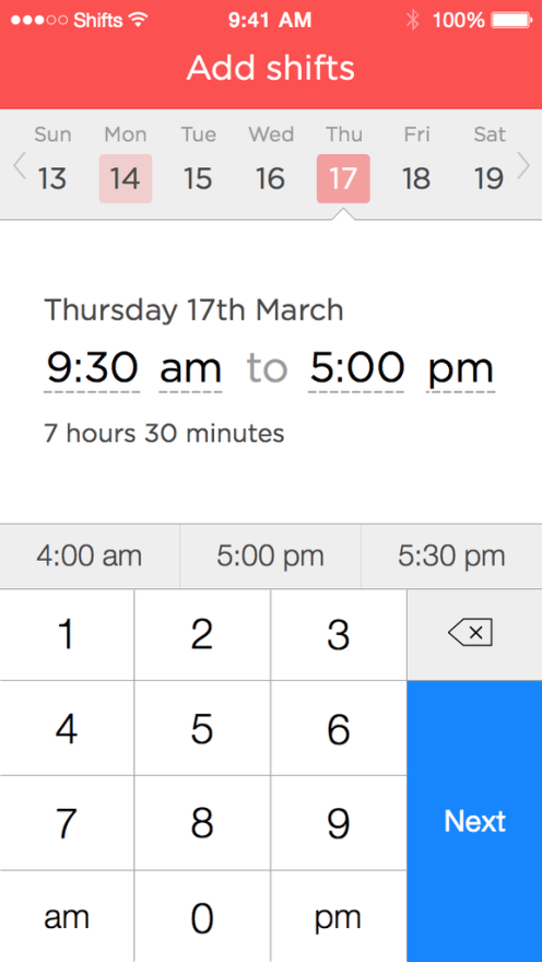 Helpful shift scheduler for Apple Store employees turning