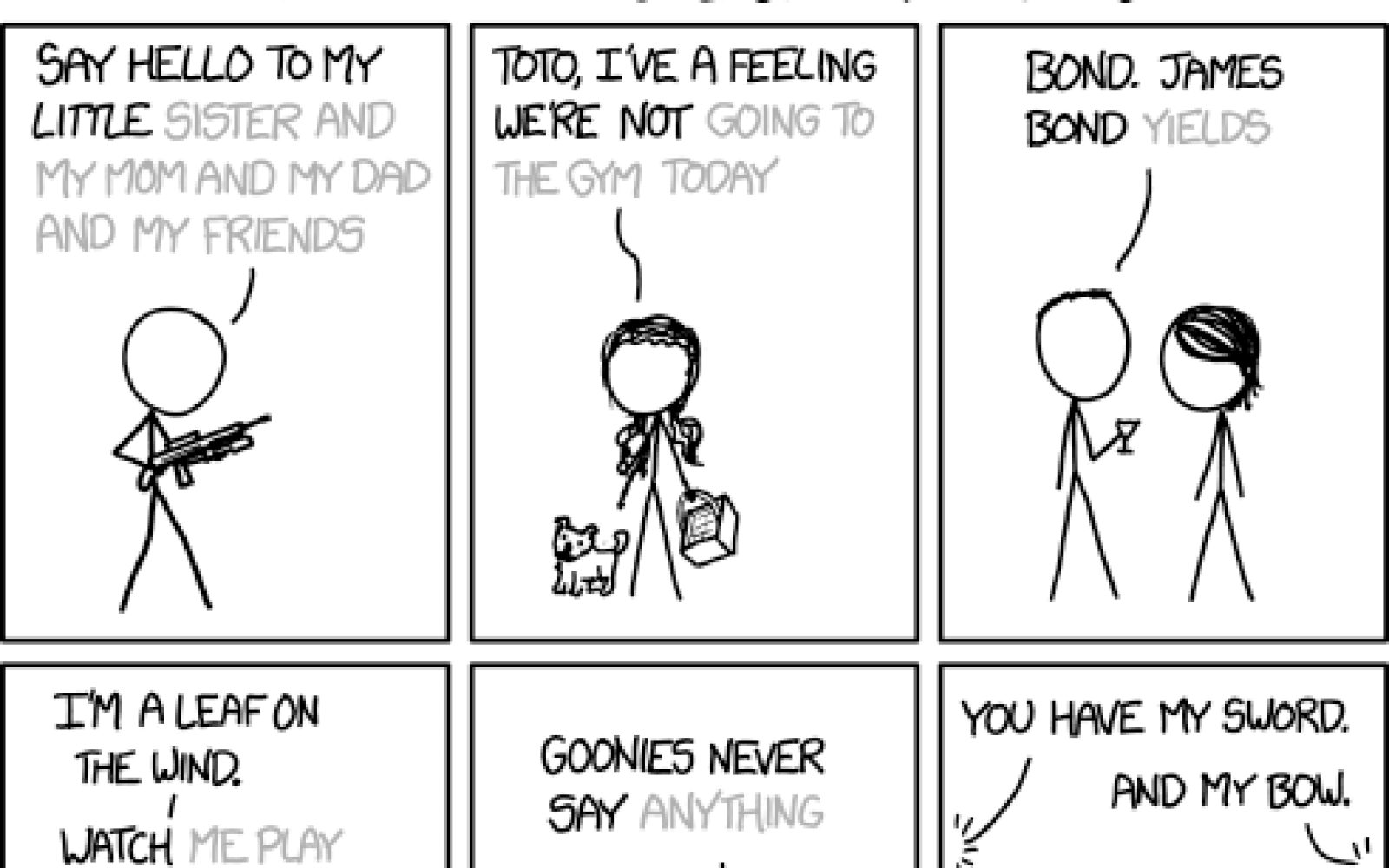 Xkcd Has Fun Trying Ios 8 Predictive Text With Famous Movie Quotes