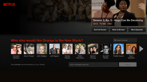 Netflix for iOS now lets you privately recommend content to select Facebook friends