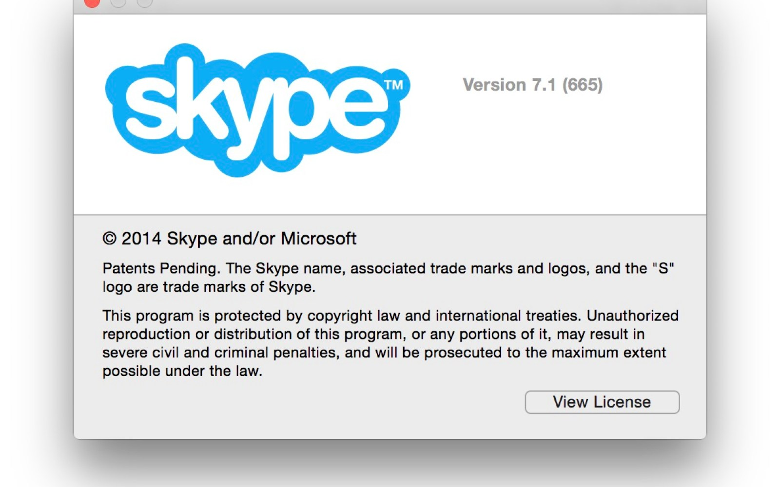 Skype updated to version 7.1 with support for OS X Yosemite and bug fixes
