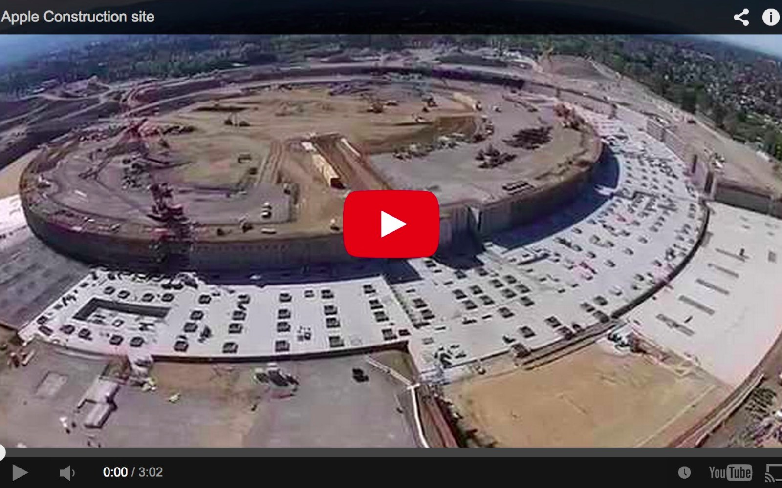 Majority of Apple Campus 2 foundation laid according to latest drone video
