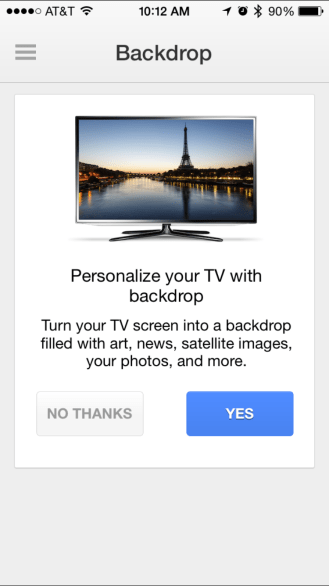 Chromecast iOS app updated w/ backdrop feature for viewing news & weather, photos, more