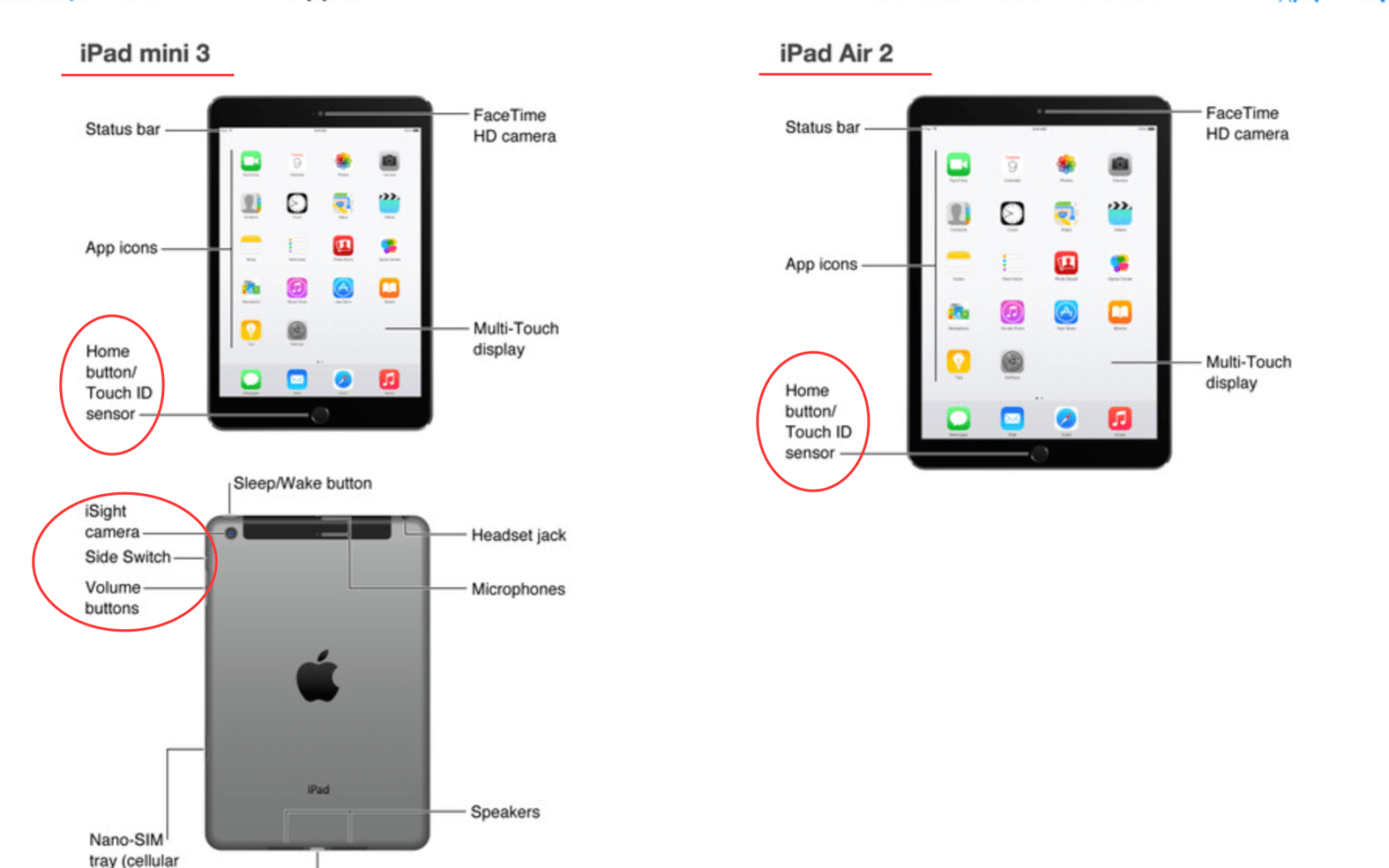 'iPad Air 2′ and 'iPad mini 3′ with Touch ID confirmed, show up early in iTunes