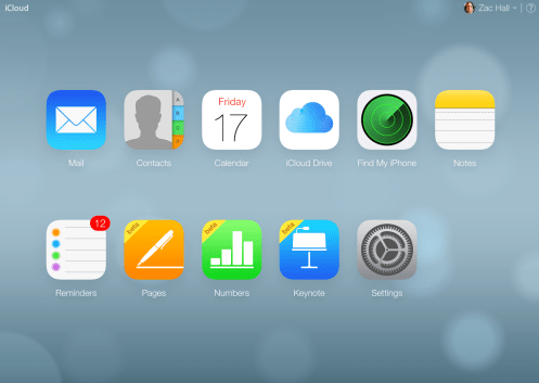 Current iCloud site