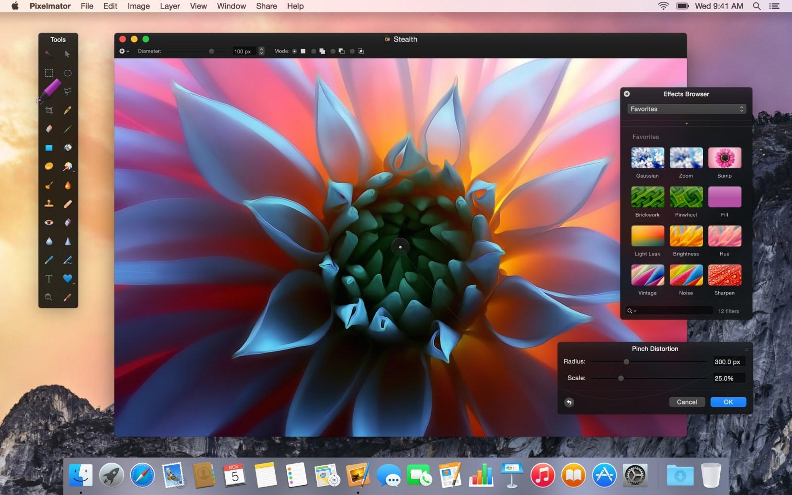 Pixelmator 3.3 released with OS X Yosemite optimizations, Repair Tool extension