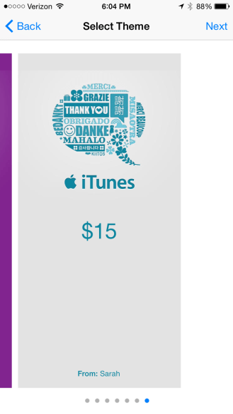 iTunes gift card theme