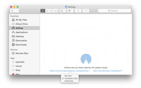 Finder AirDrop Settings