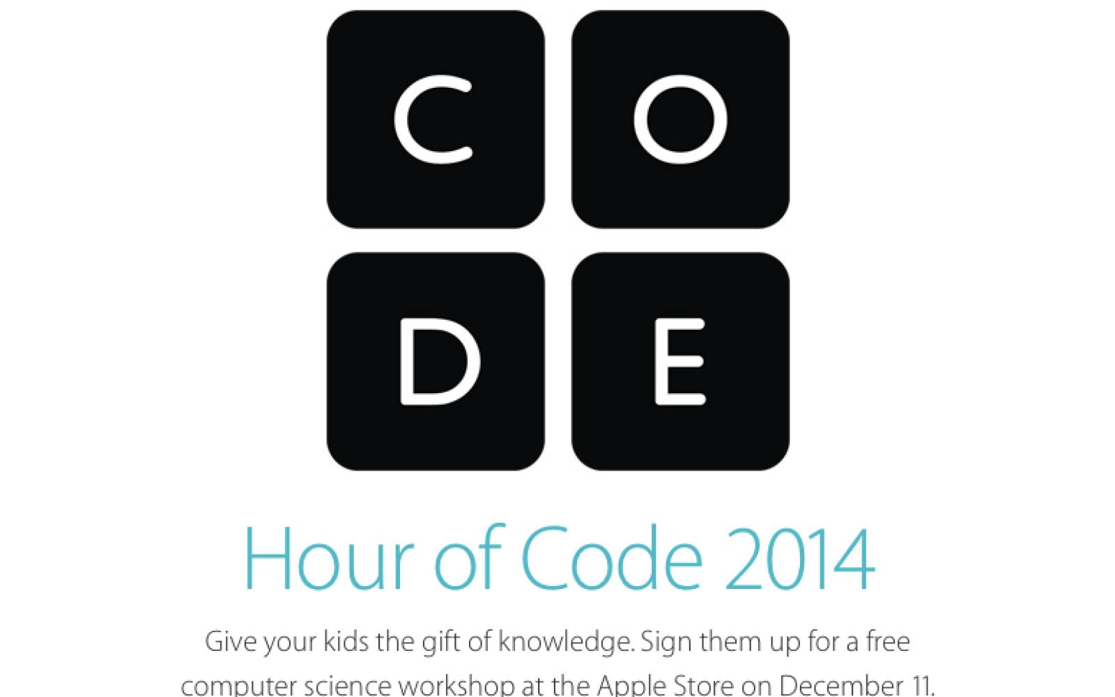 Apple Stores hosting Hour of Code programming workshops on December 11th
