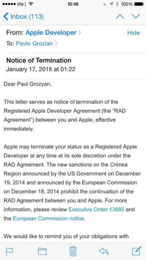 Apple Reportedly Blocks App Developers In Crimea Following