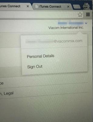 iTunes Connect Viacom